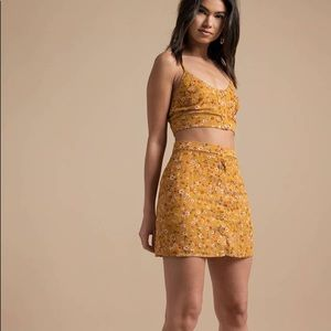 Tobi floral skirt set